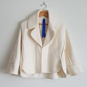 KIT AND ACE Concordia Wrap Jacket Cream White NWOT